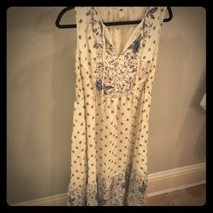 Patterned white summer dress
